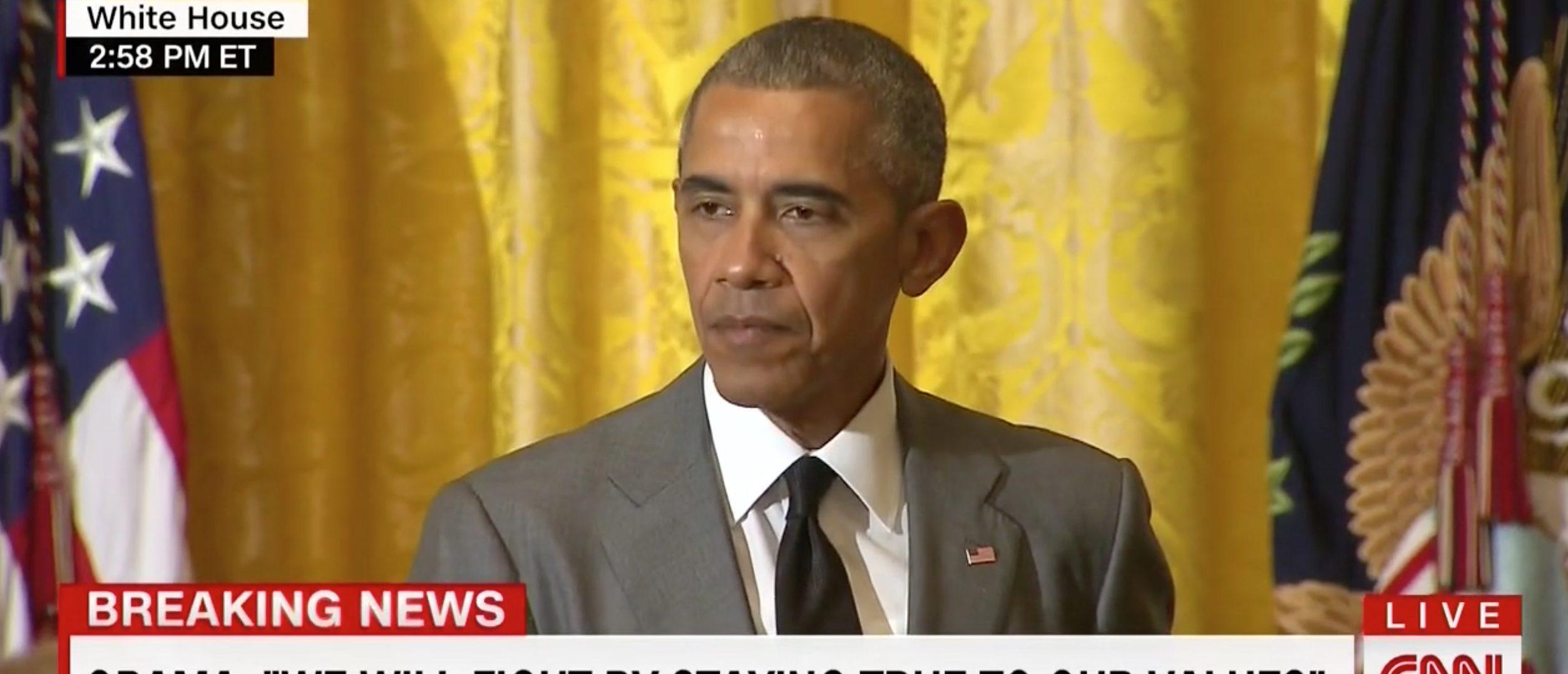 Barack Obama, Screen Grab CNN, 7-15-2016