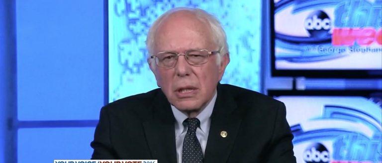 Bernie Sanders, Screen Grab ABC, 7-24-2016