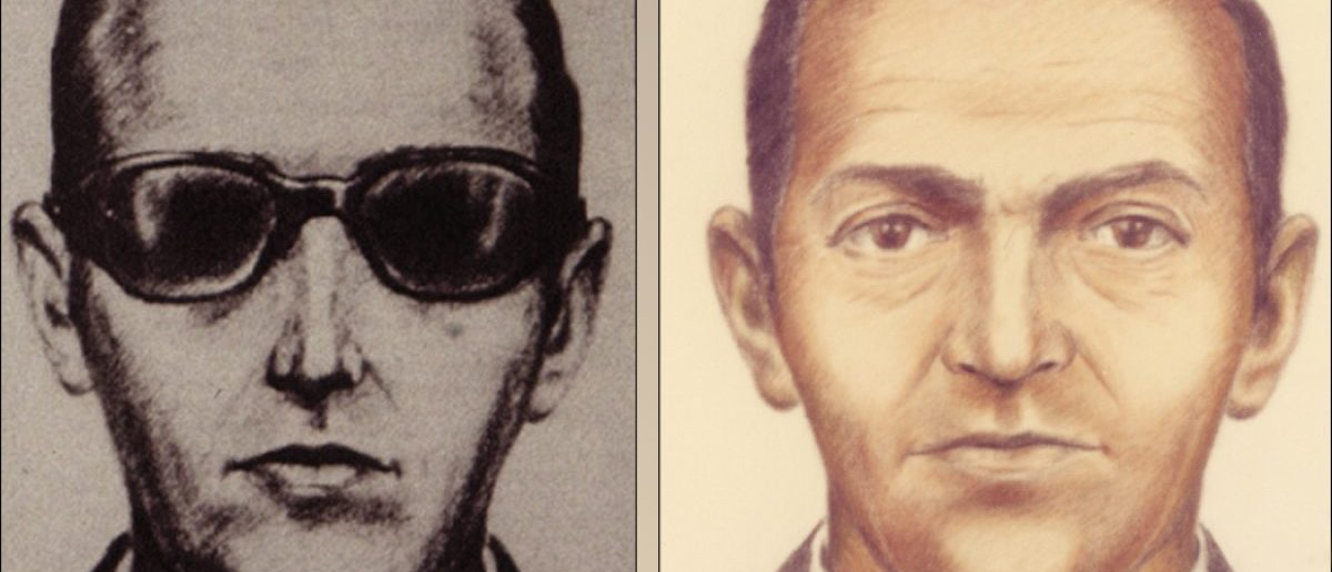 D.B. Cooper, the unidentified man who hijacked an aircraft and made off with $200,000 in 1971. Photo from FBI.gov.