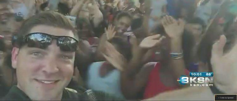 Dancing Officer Aaron Moses, Screenshot, KSN