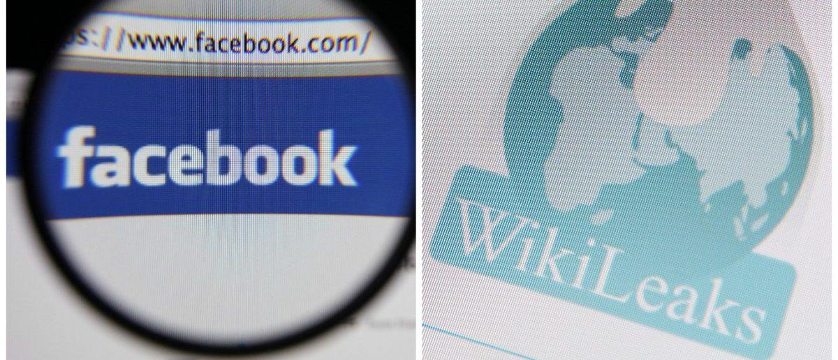 Facebook Logo: Gil C / Shutterstock.com Wikileaks Logo: haak78 / Shutterstock.com.
