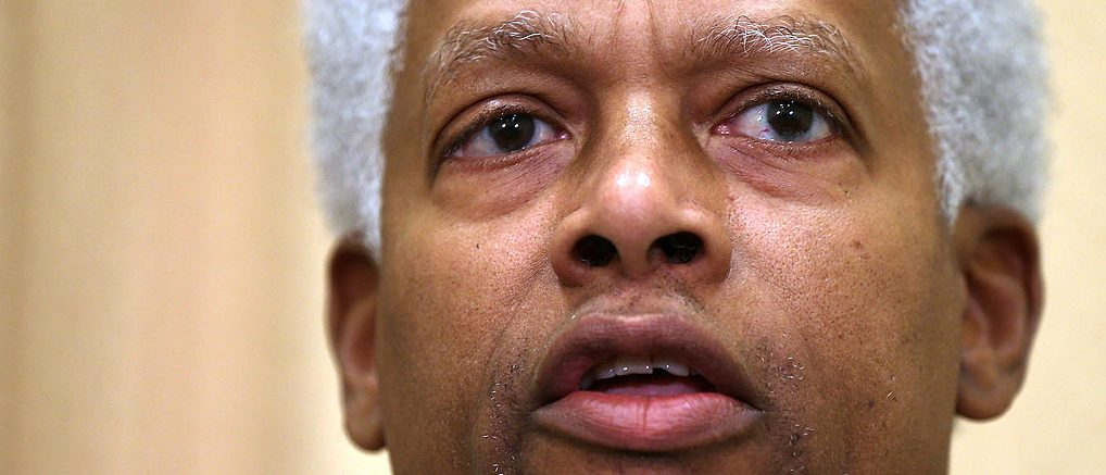WASHINGTON, DC - JANUARY 16:  U.S. Rep. Hank Johnson (D-GA) speaks during a news conference January 16, 2013 on Capitol Hill in Washington, DC. House Democrats held a news conference to announce new legislation to eliminate the federal debt ceiling.  (Photo by Alex Wong/Getty Images)