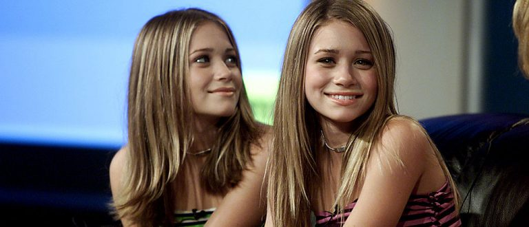 Mary-Kate and Ashley Olsen at the Television Critics Association Summer Tour.  The twins were on hand promoting Fox Family Channel's new series 'So Little Time.'  The tour was held at the Ritz-Carlton Hotel, Pasadena, CA., Saturday,  July 14, 2001.  (photo by Kevin Winter/Getty Images)