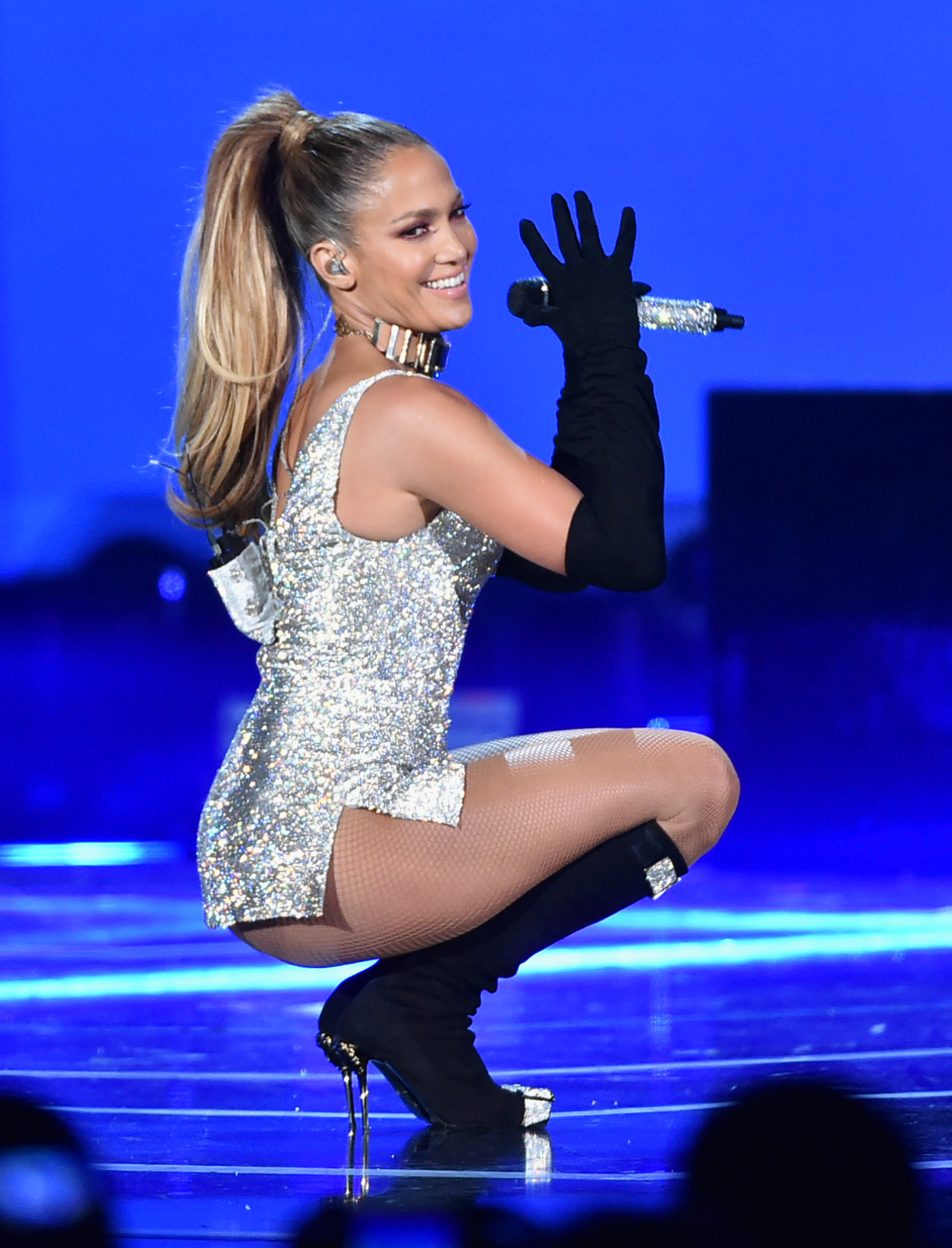 Jennifer Lopez performs onstage at Fashion Rocks 2014. (Photo by Theo Wargo/Getty Images for Three Lions Entertainment)