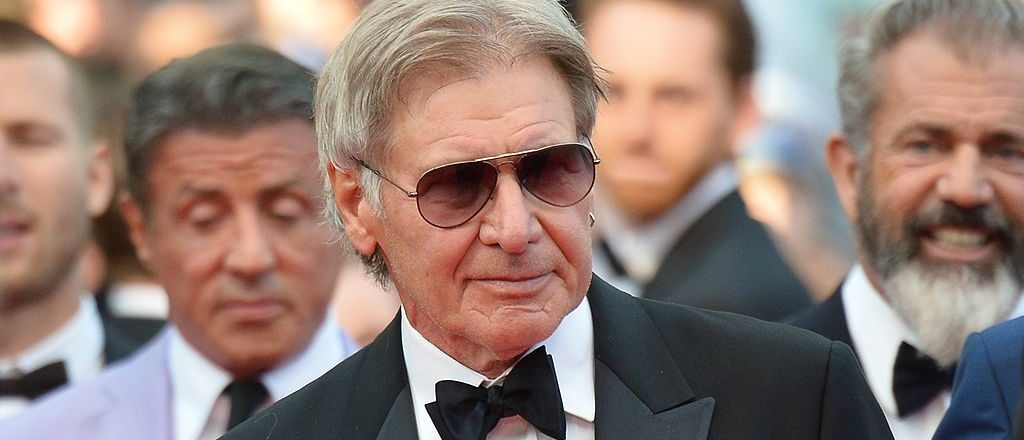 Harrison Ford poses on the red carpet during the 67th edition of the Cannes Film Festival in Cannes, southern France,