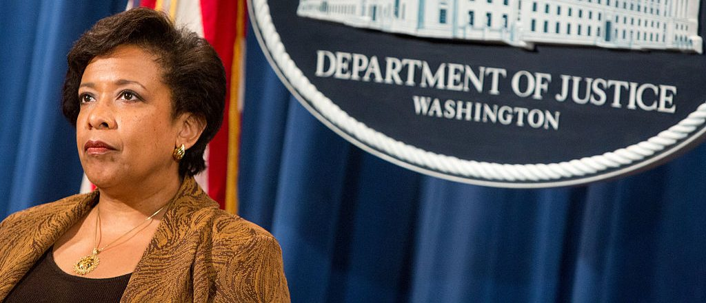 Attorney General Loretta E. Lynch listens at a press conference on June 22, 2016 in Washington, DC. (Getty Images)