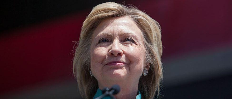Hillary Clinton speaks at a rally on the boardwalk on July 6, 2016 in Atlantic City, New Jersey (Getty Images)