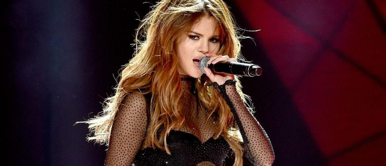 Selena Gomez at the Staples Center in Los Angeles