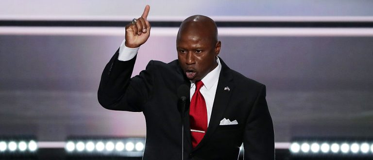 Darryl Glenn delivers a speech on the first day of the 2016 Republican National Convention (Getty Images)