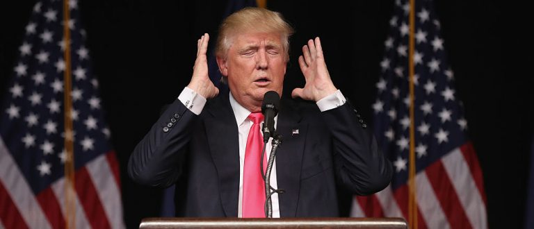 Donald Trump addresses a crowd of supporters on July 27, 2016 in Scranton, Pennsylvania. (Getty Images)