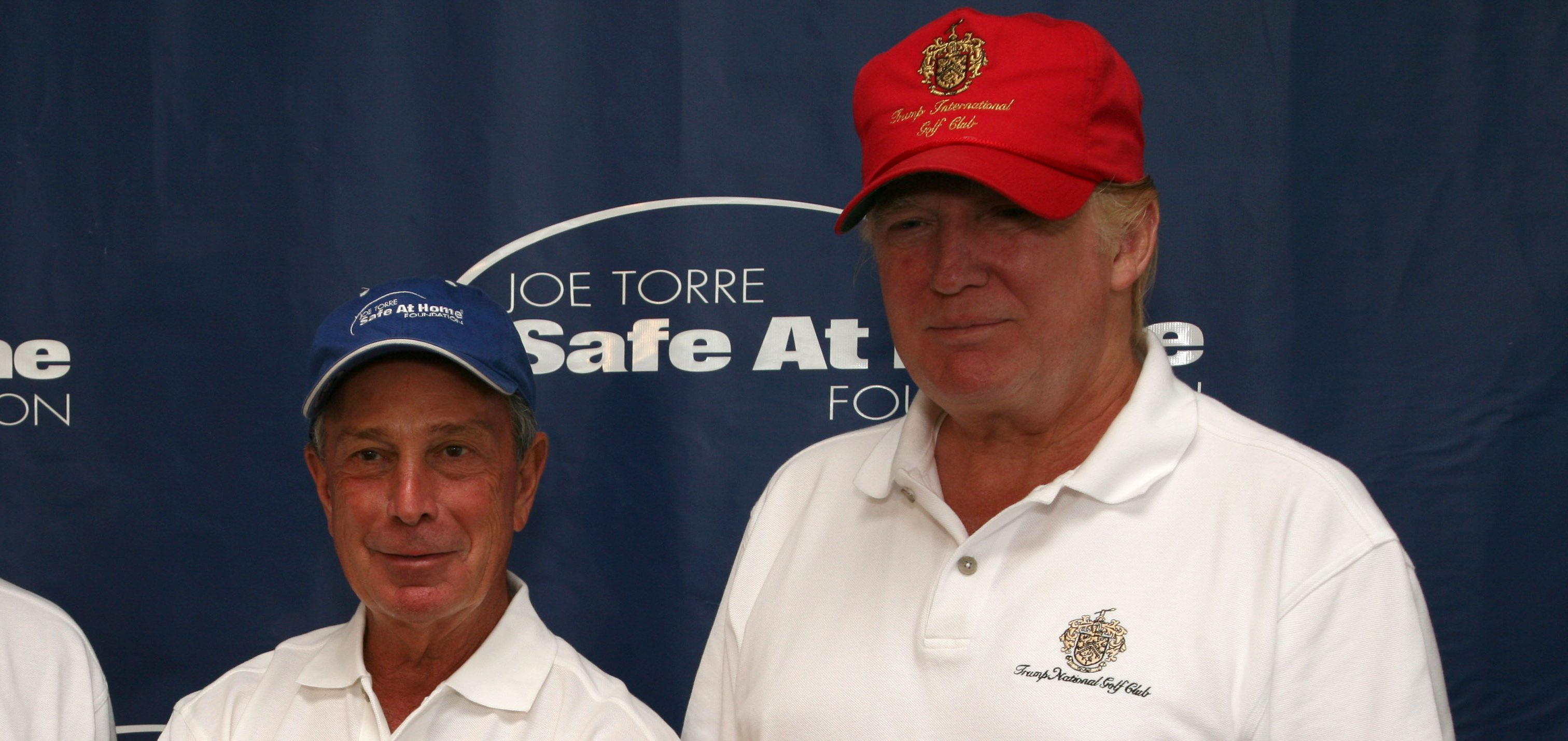 BRIARCLIFF MANOR, NY - JULY 14:  Joe Torre, Mayor Michael R. Bloomberg and Donald Trump attend the 2008 Joe Torre Safe at Home Foundation Golf Classic at Trump National Golf Club on July 14, 2008 in Briarcliff Manor, New York.  (Photo by Rick Odell/Getty Images)