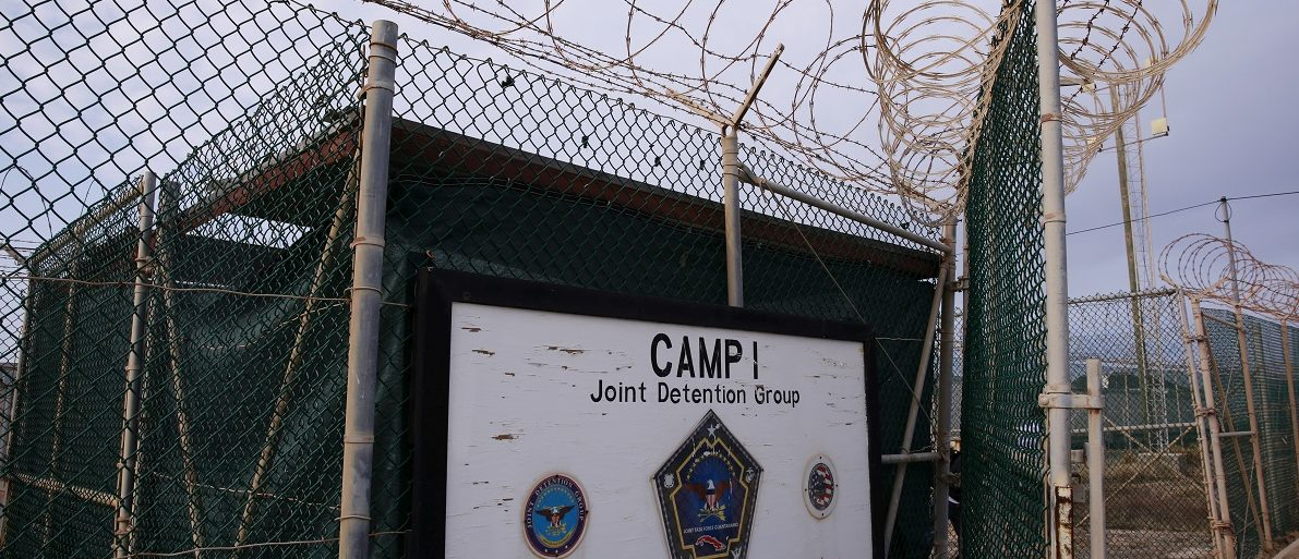 A sign identifies Joint Task Force Guantanamo's closed down Camp I at the U.S. Naval Base in Guantanamo Bay