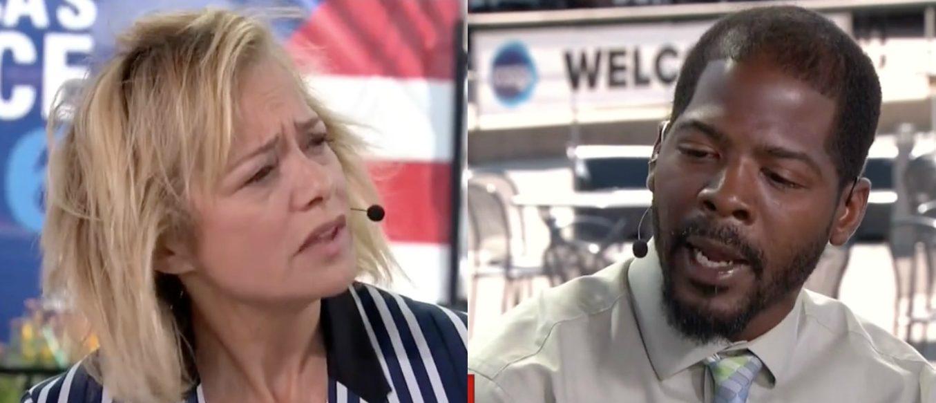 Hilary Rosen, Gary Frazier, Screen Grabs CNN, 7-26-2016
