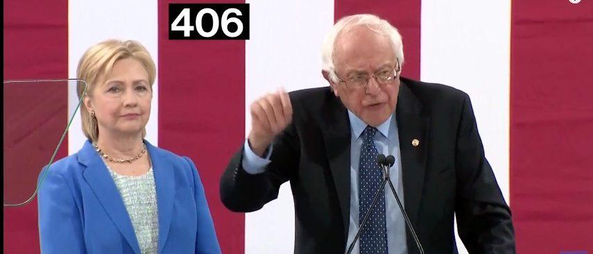 Hillary Clinton, Bernie Sanders, Screen Grab Bloomberg YouTube, 7-13-2016