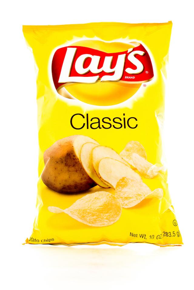 Winneconne, WI - 3 February 2015: Bag of 10 OZ Frito Lay Classic