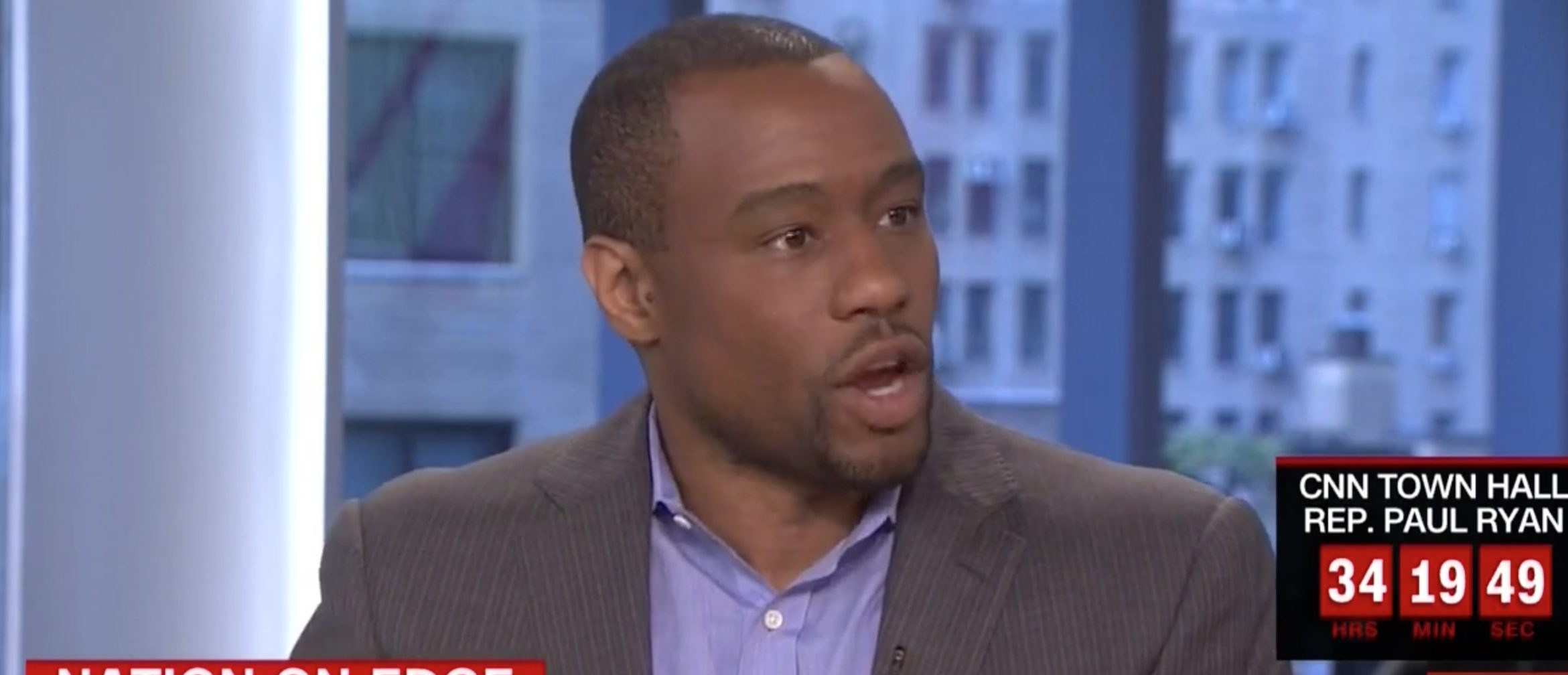 Marc Lamont Hill, Screen Grab CNN, 7-11-2016