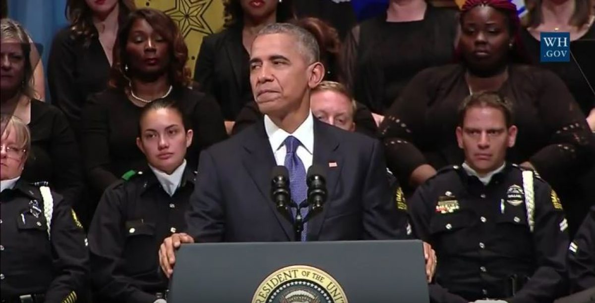 President honors Dallas officers