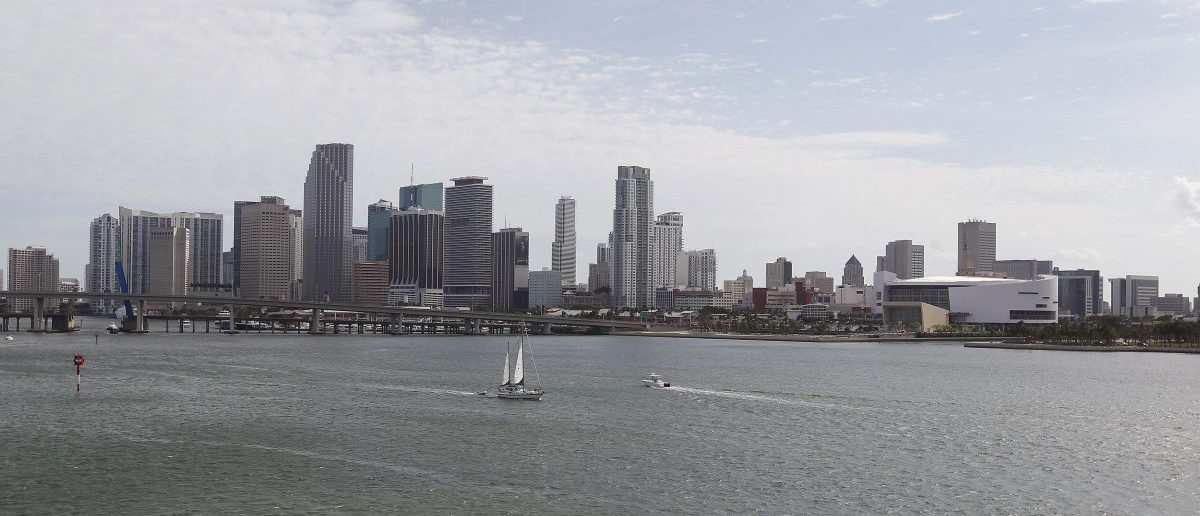 A portion of the City of Miami's skyline, along with the American Airlines Arena (R), home of the NBA's Miami Heat, is seen near the Port of Miami in Miami, Florida, May 2, 2014. David Beckham's dream to build a futuristic waterfront soccer stadium housing his own professional team has turned into a 'not in my backyard' clash of icons, pitting the retired English superstar against one of the world's top cruise lines. Picture taken May 2, 2014. REUTERS/Andrew Innerarity