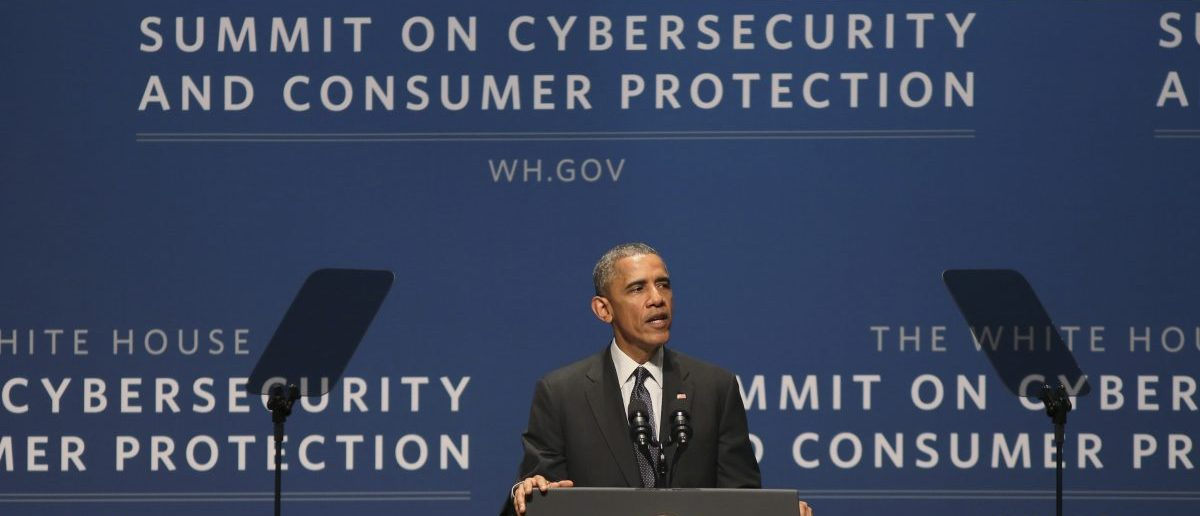 U.S. President Barack Obama speaks at the White House summit on cybersecurity and consumer protection in Palo Alto, California February 13, 2015. REUTERS/Robert Galbraith - RTR4PIOF