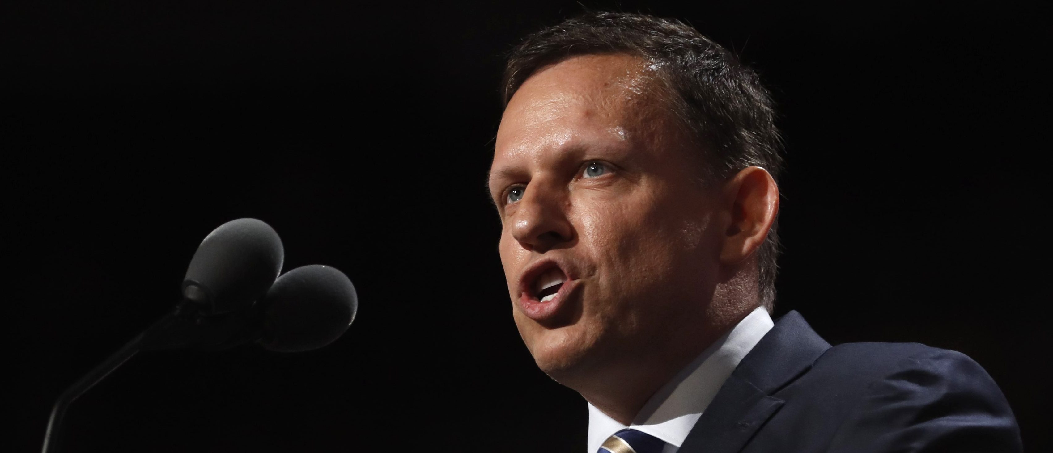 Peter Thiel, co-founder of PayPal, speaks at the Republican National Convention in Cleveland, Ohio, U.S., July 21 2016.   REUTERS/Jonathan Ernst   - RTSJ47R