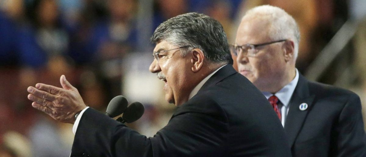AFL-CIO President Richard Trumka speaks at the Democratic National Convention (REUTERS/Gary Cameron)