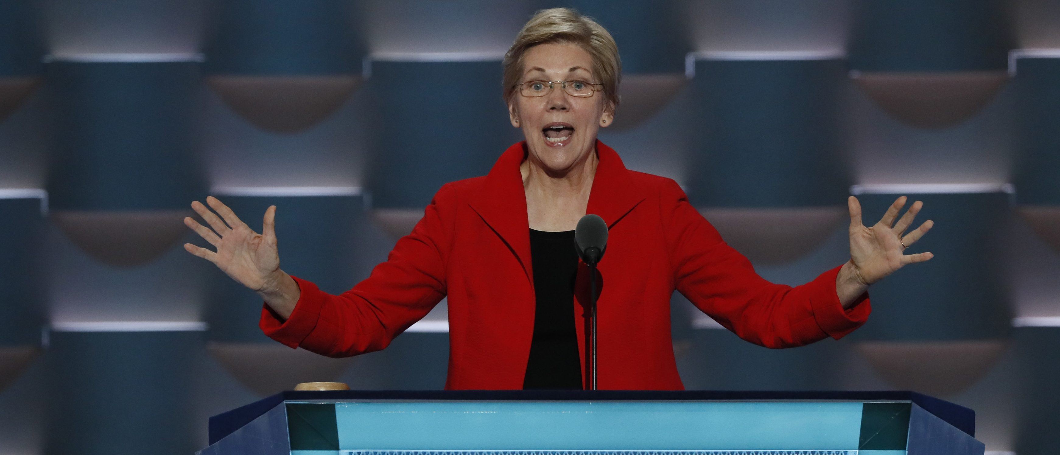 U.S. Senator Elizabeth Warren (D-MA) speaks during the first session at the Democratic National Convention in Philadelphia, Pennsylvania, U.S. July 25, 2016.