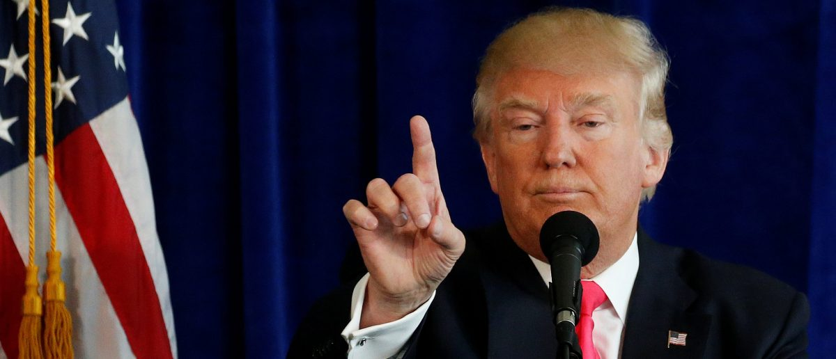 Republican presidential nominee Donald Trump speaks at a campaign event at Trump Doral golf course in Miami, Florida, U.S., July 27, 2016. REUTERS/Carlo Allegri - RTSJXDC