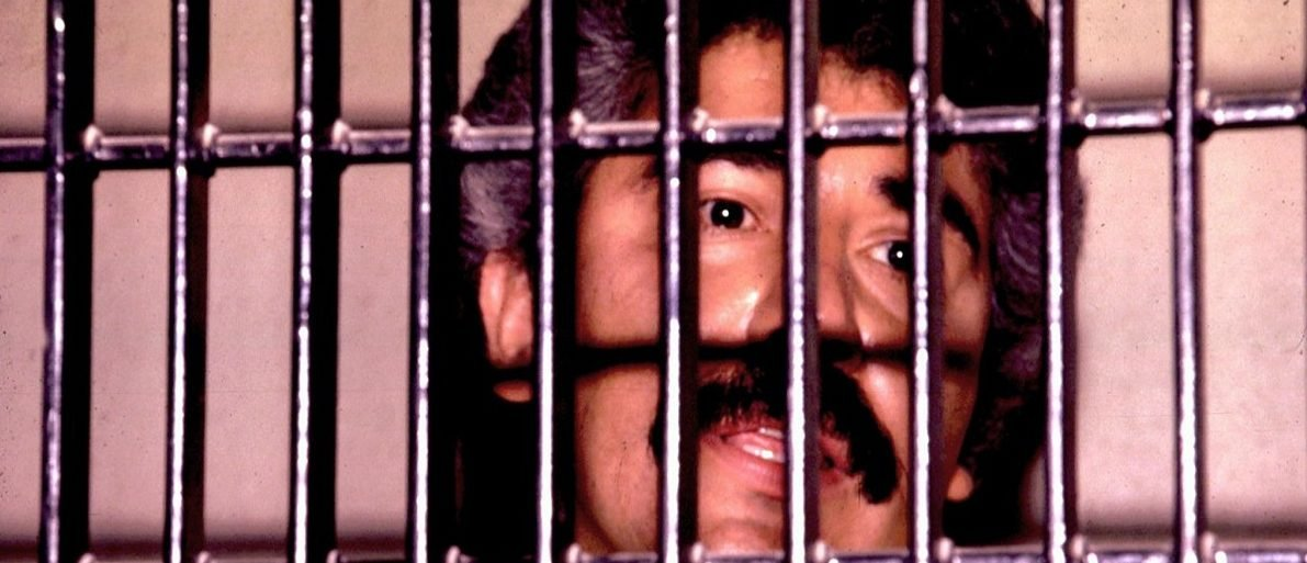 UNDATED FILE PHOTO - Mexican drug lord Rafael Caro Quintero is shown behind bars in this undated file photo. Quintero won an initial appeal against his conviction and 40 year sentence for the 1985 murder of U.S. DEA agent Enrique Camarena. Quintero will stay in jail while prosecutors appeal against the ruling. Reuters