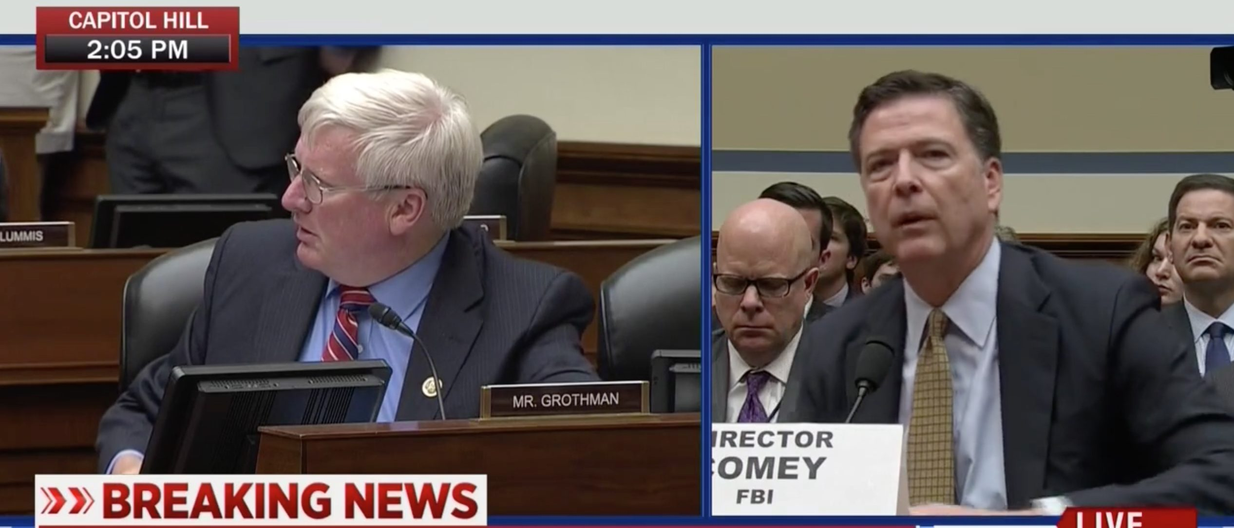 Rep. Glenn Grothman, James Comey, Screen Grab MSNBC 7-7-2016