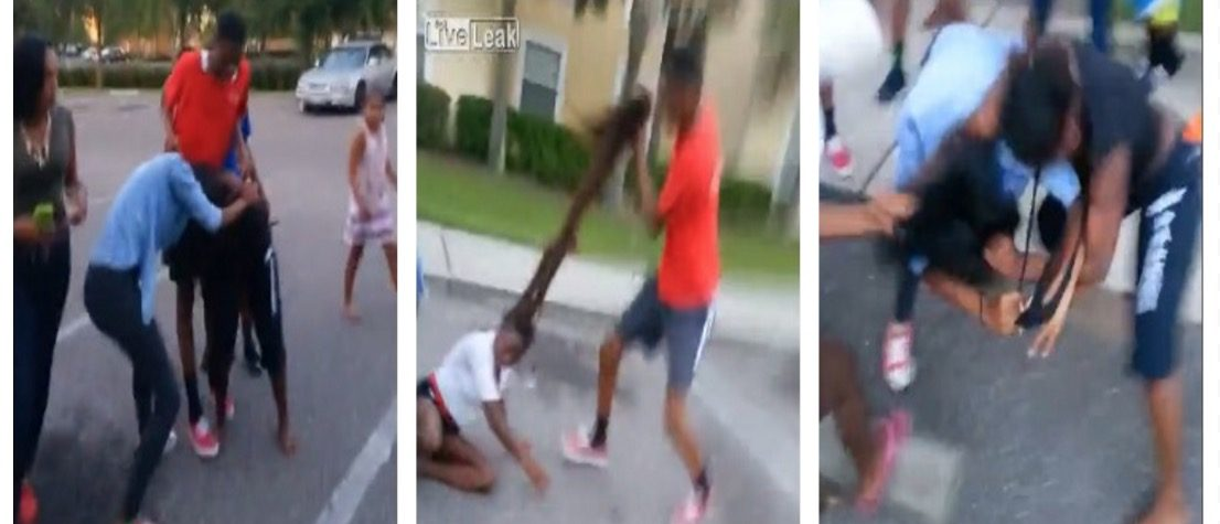 Some Chick Getting Her Hair Ripped Off Was The LEAST CRAZY Part Of This Fight (LiveLeak)