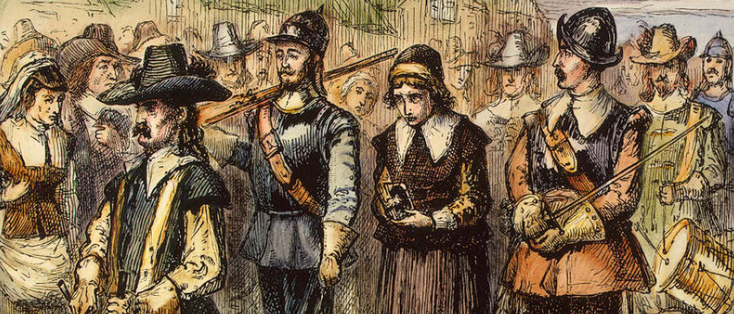 Mary Dyer being led to execution / via Wikipedia