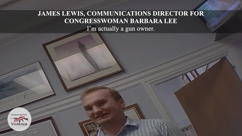 James Lewis, Communications Director for Congresswoman Barbara Lee (D-CA) (Project Veritas)