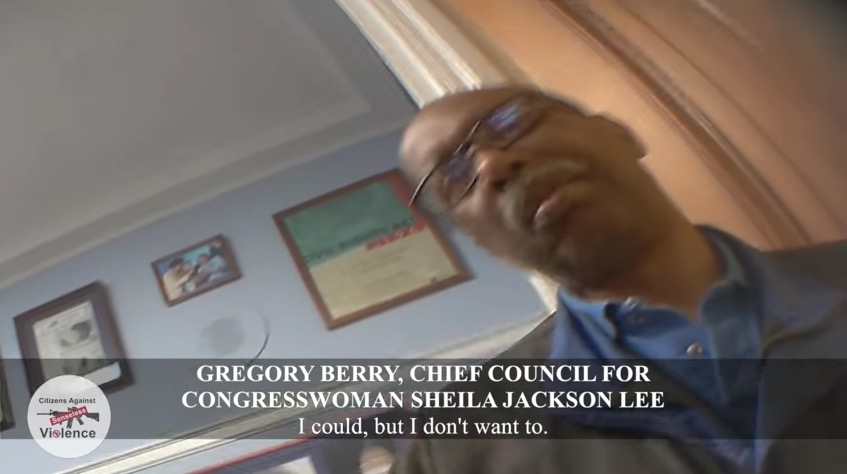 Gregory Berry, chief council to Rep. Sheila Jackson Lee (Project Veritas)