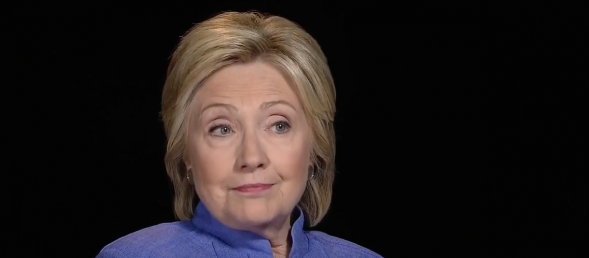 Hillary Clinton interviewed by Charlie Rose, July 17, 2016. (YouTube screen grab)