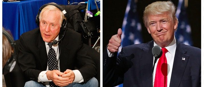 Fran Tarkenton, Donald Trump (Getty Images)