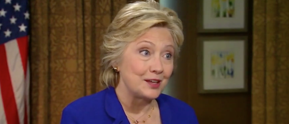 "Hillary Clinton on ""Fox News Sunday"" (Screen shot Fox)"