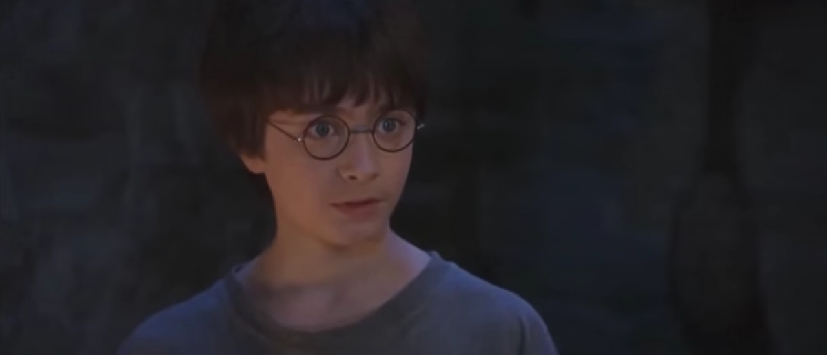 Harry finds out he's a wizard (YouTube screenshot/Warner Bros)