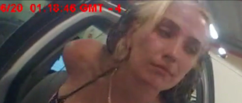 Woman allegedly bribes cop, Screenshot, Miami Dade Police