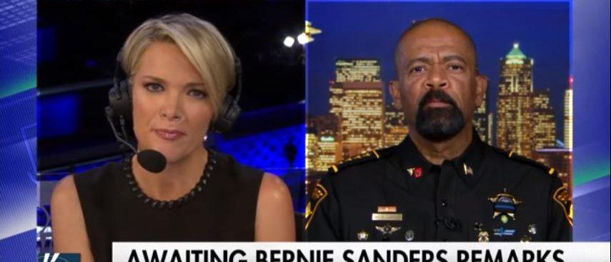 Sheriff David Clarke, Megyn Kelly, Screen Grab Fox News, 7-25-2016