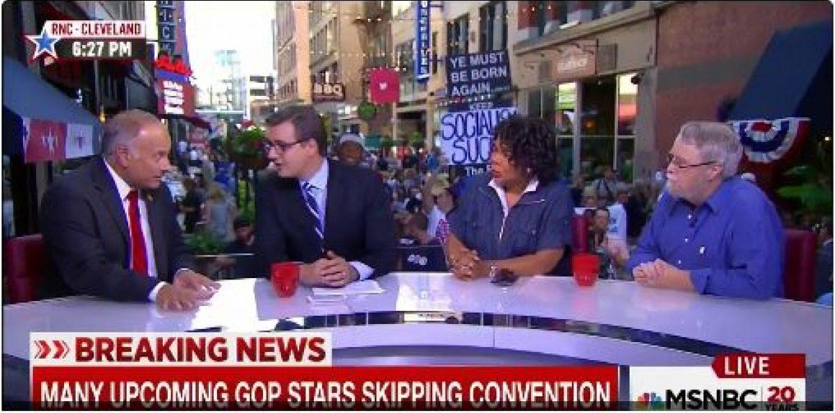 Screenshot MSNBC 07/18/2016