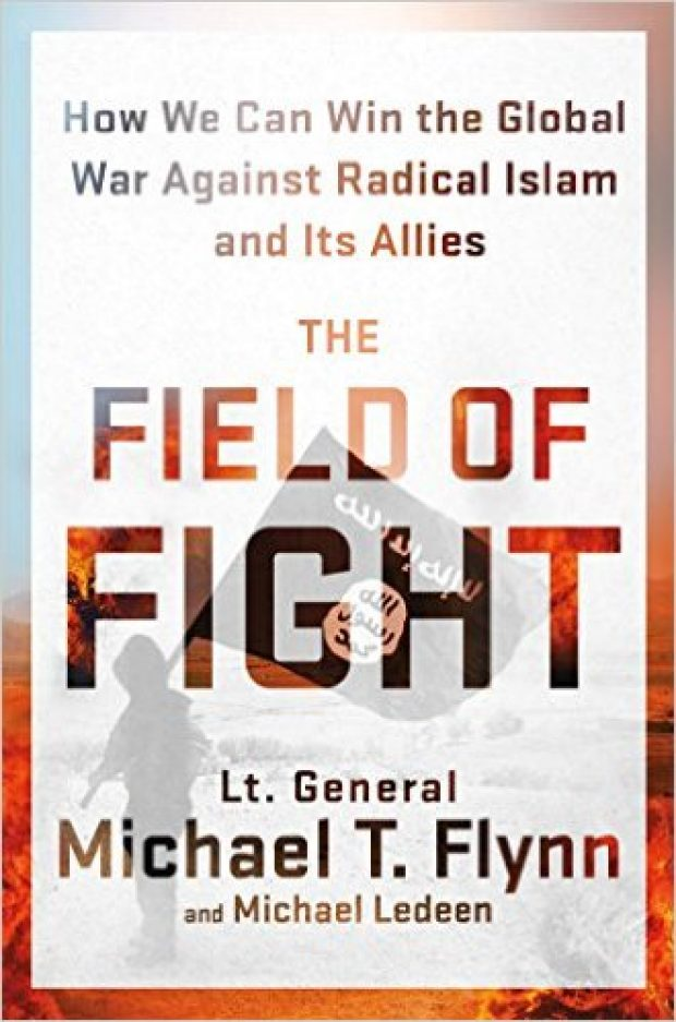 'Field of Fight' explains Flynn's worldview (Photo via Amazon)