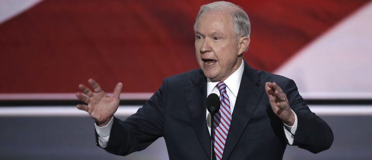 Senator Jeff Sessions speaks at the Republican National Convention in Cleveland
