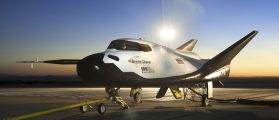 The Sierra Nevada Corporation (SNC) Dream Chaser flight vehicle is readied for 60 mph tow tests at NASA's Dryden Flight Research Center in Edwards, California, in this handout photo courtesy of Nasa taken on August 2, 2013. The privately owned prototype space plane aced its debut test flight in California but was damaged after landing when a wheel did not drop down, developer Sierra Nevada Corp said on October 29, 2013. The Dream Chaser is one of three space taxis under development in partnership with NASA to fly astronauts to the International Space Station following the retirement of the space shuttles in 2011. (REUTERS/NASA/Ken Ulbrich/Handout via Reuters)