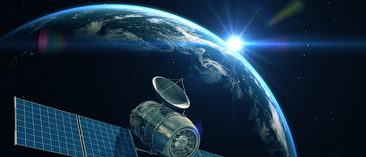 Satellite is orbiting around the Earth. Elements of this image furnished by NASA (Shutterstock/Tatiana Shepeleva)