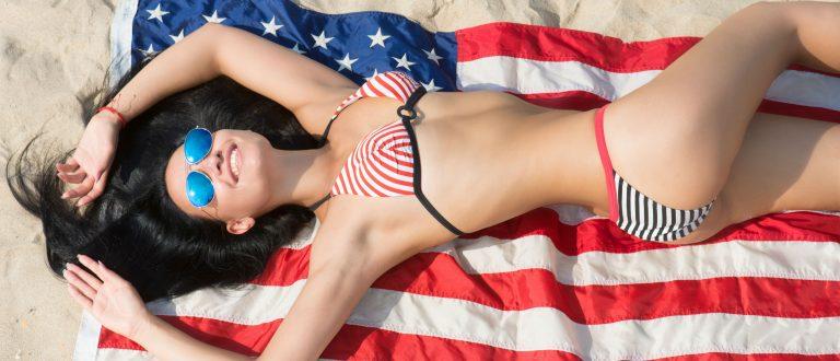 American flag bikinis (Photo: Shutterstock)