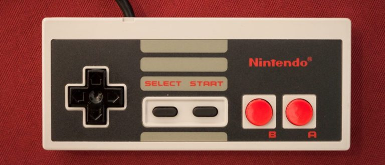 A Nintendo Entertainment System controller.