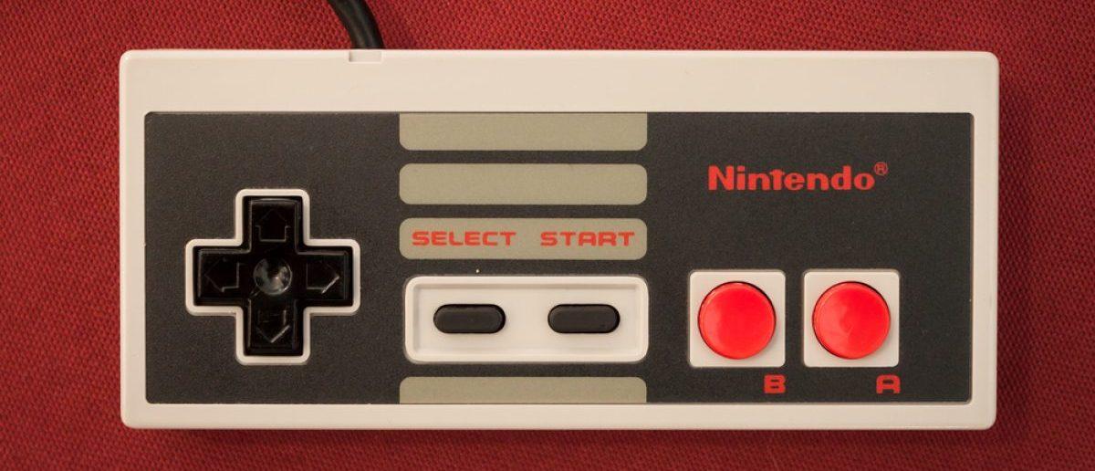 A Nintendo Entertainment System controller.