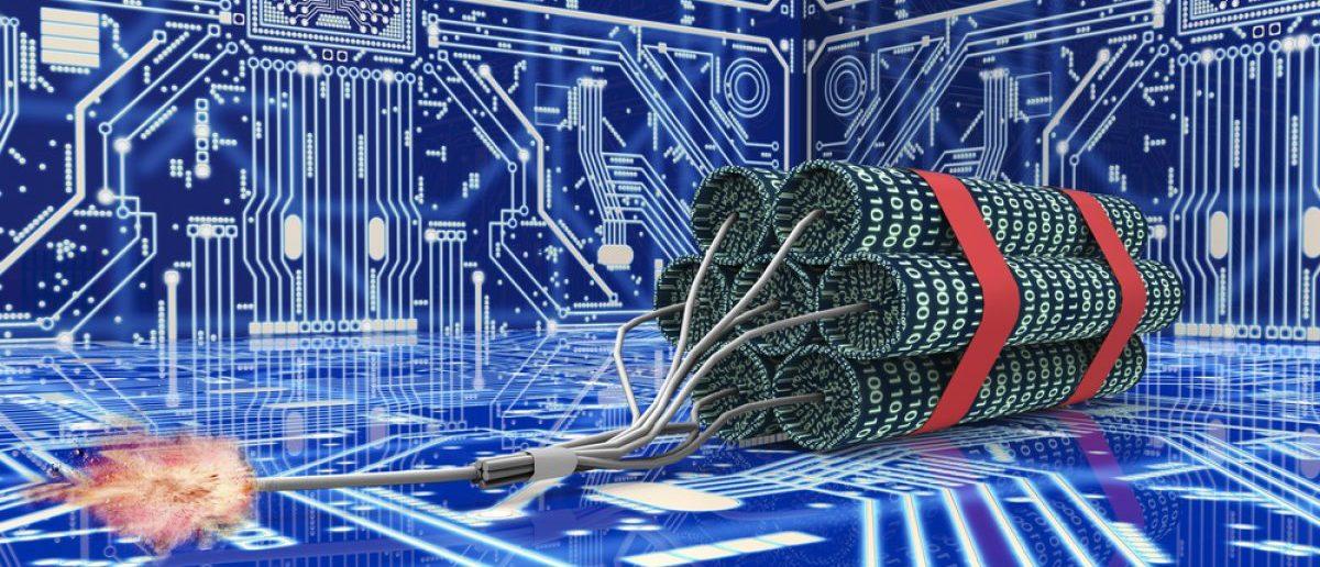 Cyber terrorism computer bomb. [Shutterstock - posteriori]