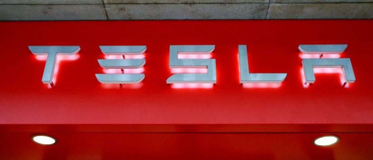The logo of U.S. car manufacturer Tesla is seen in Zurich, Switzerland July 14, 2016.
