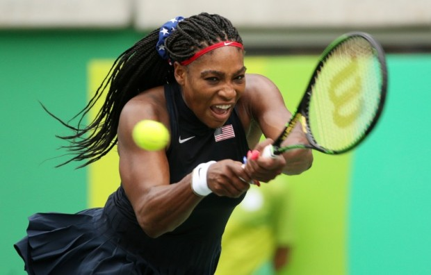 2016 Rio Olympics - Tennis - Preliminary - Women's Singles First Round - Olympic Tennis Centre - Rio de Janeiro, Brazil - 07/08/2016. Serena Williams (USA) of USA in action against Daria Gavrilova (AUS) of Australia. REUTERS/Kevin Lamarque